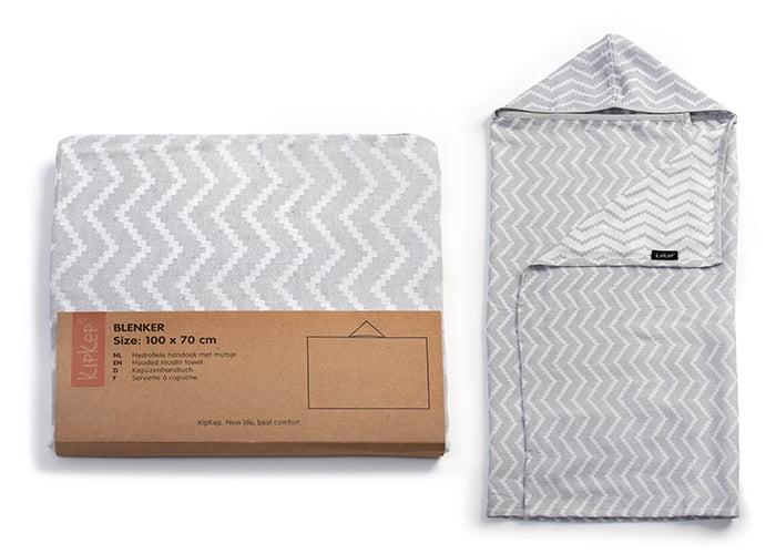 Brisača s kapuco - Silver Grey-852