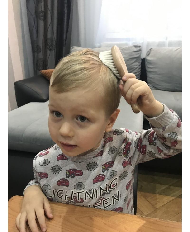 Otroška krtača iz naravnih kozjih dlak-822
