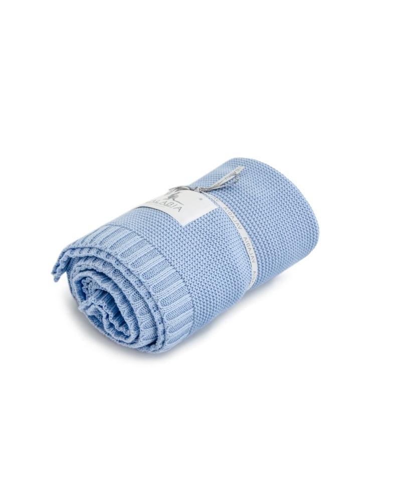 Bambusova odeja 100x80 cm – svetlo modra-941