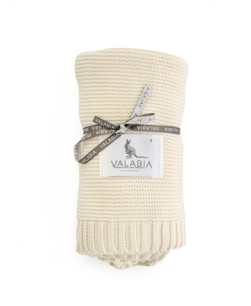 Bambusova odeja 100x80 cm – vanilija-0