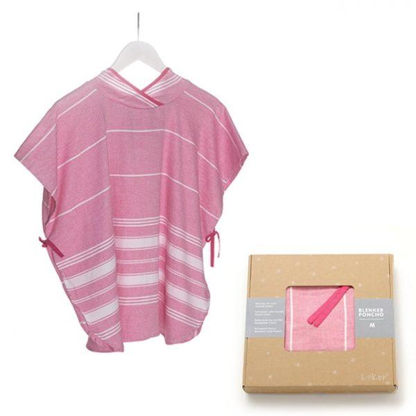 Kopalni pončo s kapuco - Pink-0