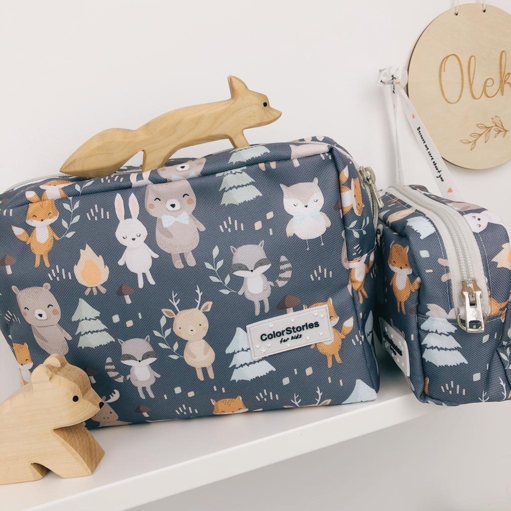 Toaletna torbica L - WOODLAND GREY-1069