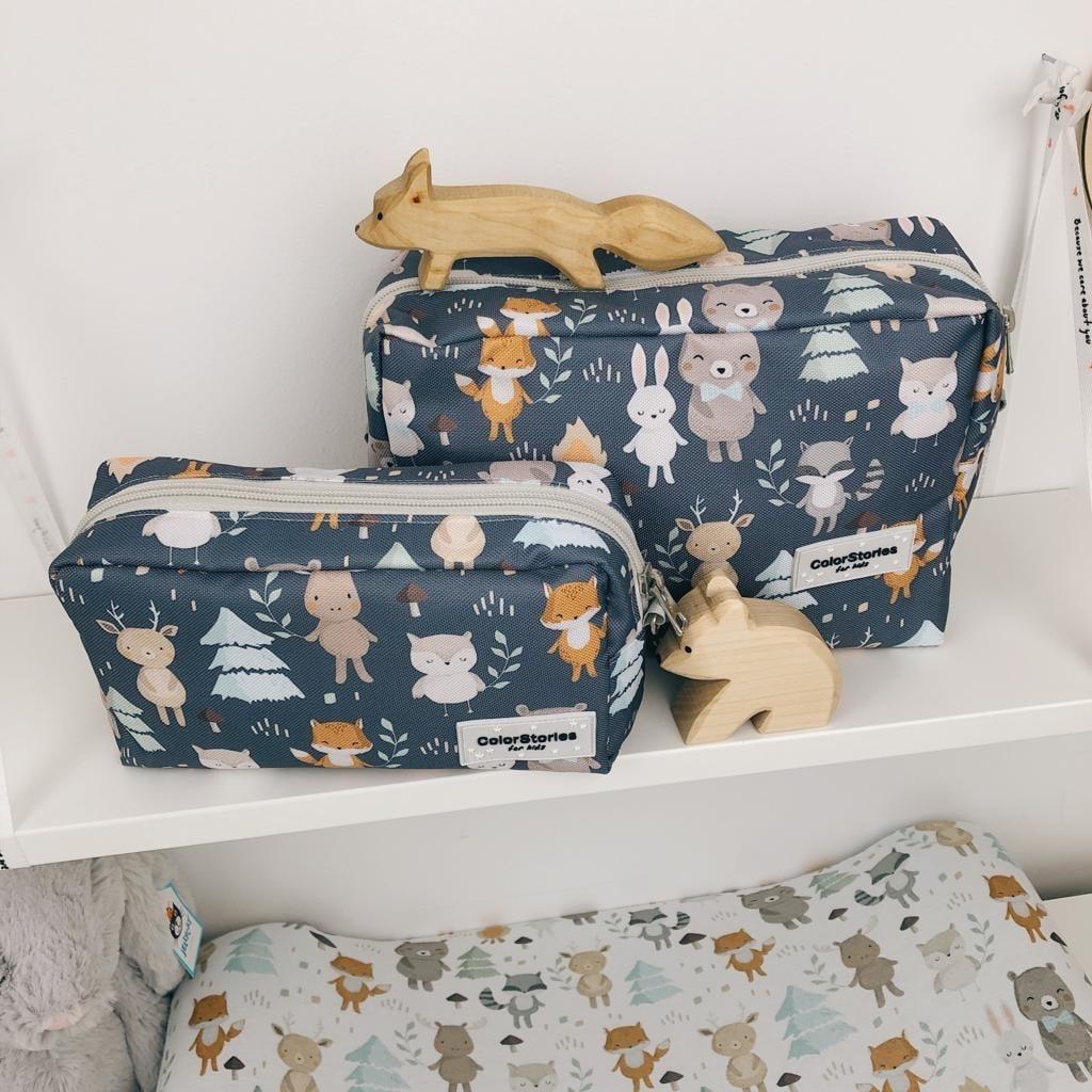 Toaletna torbica L - WOODLAND GREY-1068