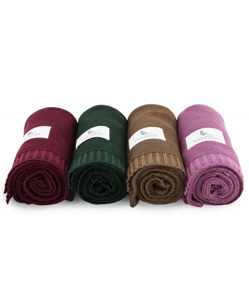 Bambusova odeja 100x80 cm –bordo rdeča-1133