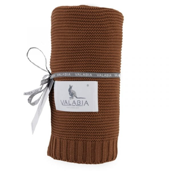 Bambusova odeja 100x80 cm - caramel-0