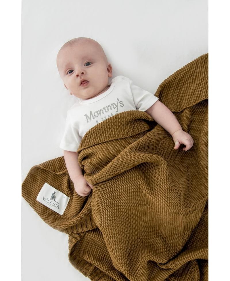 Bambusova odeja 100x80 cm - caramel-1137