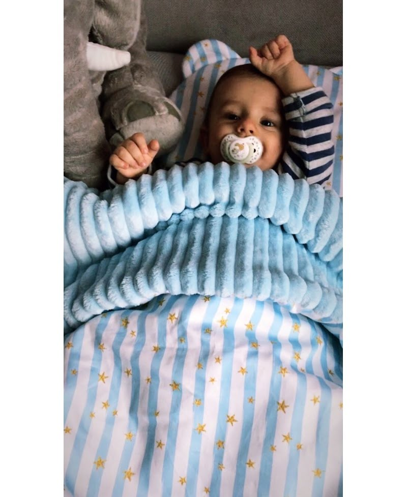 Otroška odejica - BABY BLUE-1128