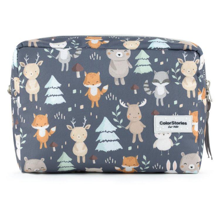Toaletna torbica L - WOODLAND GREY-0