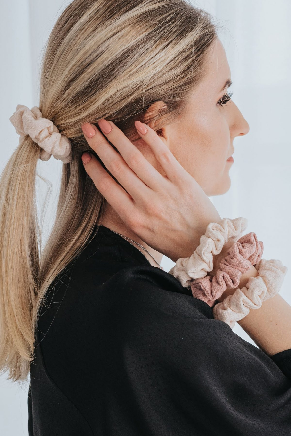 MOMMY SCRUNCHIES - Rose-1801