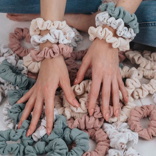 MOMMY SCRUNCHIES - Blue branches-1792